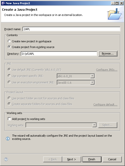 Setting up the project in Eclipse